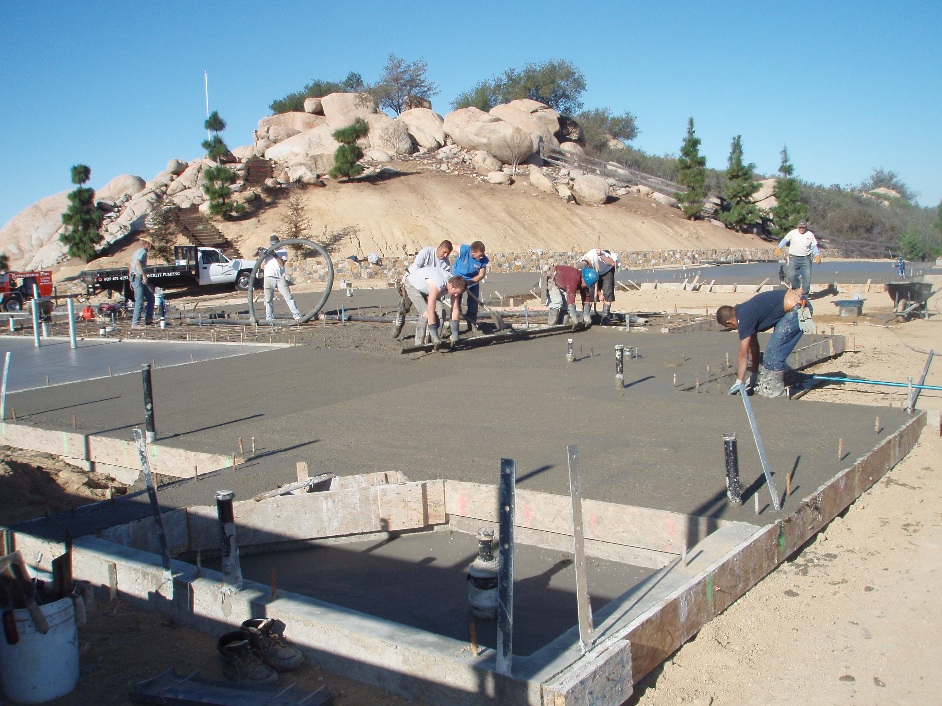 Installing foundations in Riverside, San Diego, Orange and Counties