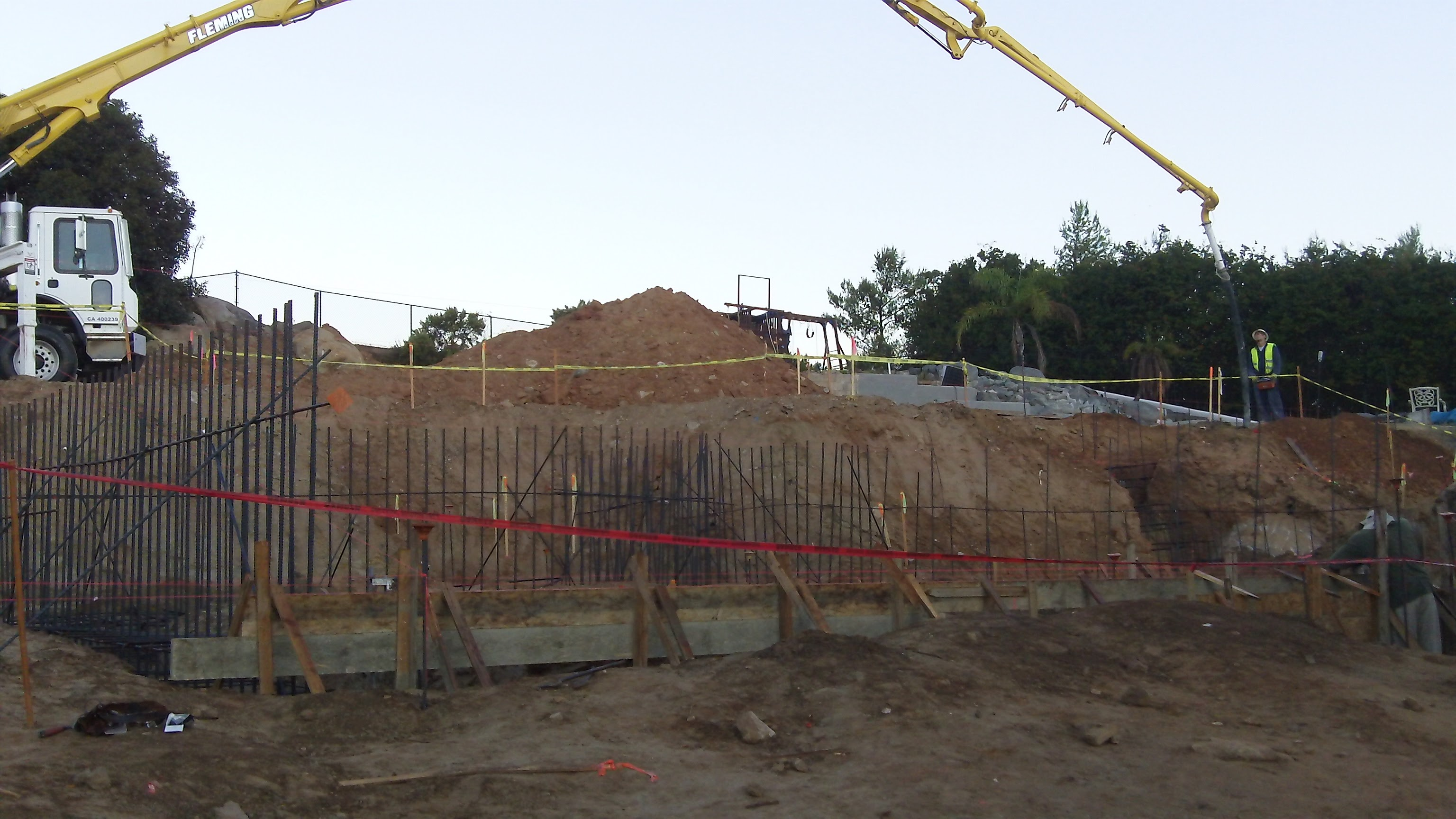 Installing concrete foundations in Riverside, San Diego, Orange and Counties