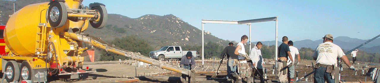 Installing foundations in Riverside, San Diego, Orange and Los Angeles Counites